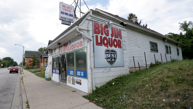 Big Jim's Liquor, 2161 W. Hopkins St., was one of the buildings damaged by arson fire during unrest in Milwaukee's Sherman Park neighborhood.