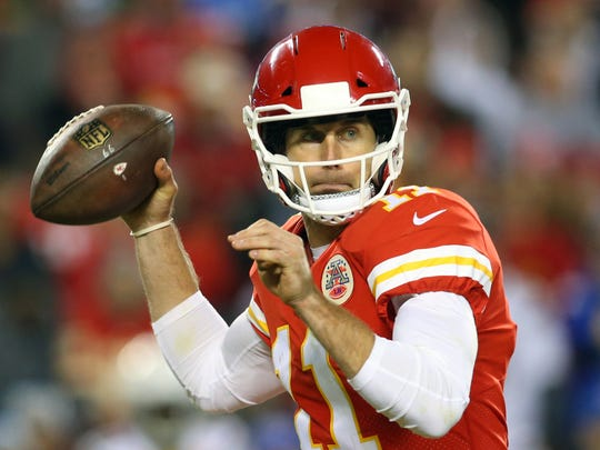 Kansas City's Alex Smith has been mentioned in rumors as a potential trade possibility for the Bills in 2018.