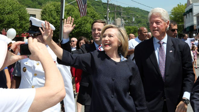 Presidential candidate Hillary Clinton and former President Bill Clinton.
