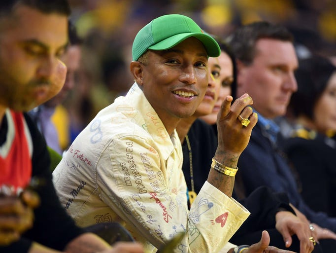 Pharrell William was at Game 6 between the Warriors