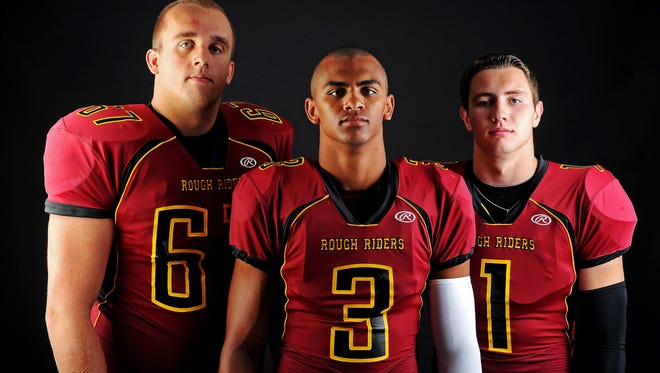 From left, Roosevelt's Grant Schmidt, Taryn Christion and Chase Vinatieri.