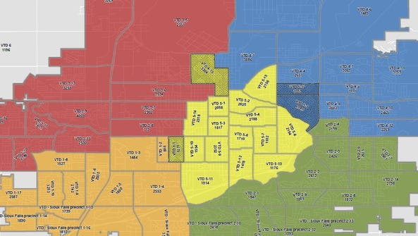 Sioux Falls is due to redraw the City Council district