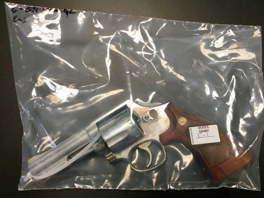 The weapon prosecutors say was used in the killing