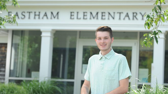 Benten Niggel, 18, secured 102 write-in votes to win election to the Eastham Elementary School Committee June 23.