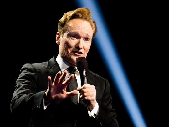 Conan O'Brien during the 2016 Nobel Peace Prize Concert