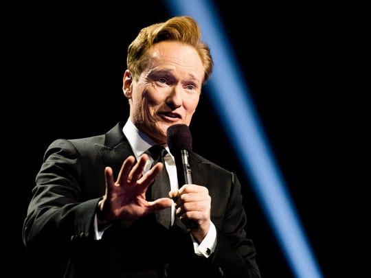 Conan O'Brien during the 2016 Nobel Peace Prize Concert