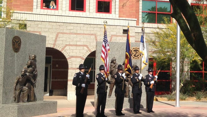 Both the Arizona Highway Patrol Association and the Chandler Police Department held their annual Fallen Officers Memorial ceremonies on Monday morning to remember officers who were killed or died on the job