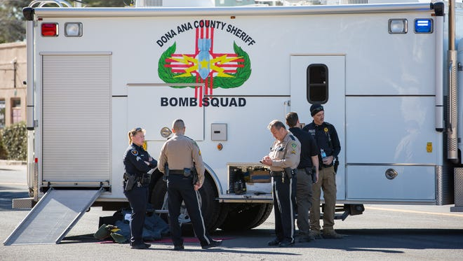 Authorities closed part of North Alameda Boulevard near West Picacho Avenue on Wednesday morning due to a suspicious package reported at the Las Cruces District Court.