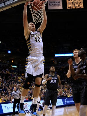 Marquette center Luke Fischer averaged 12.1 points and 6.2 rebounds per game during the 2015-'16 season.