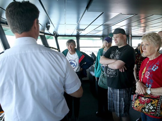 Ferry captain Greg Sugden talks bout the instruments