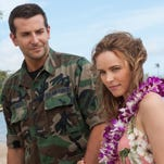 """Bradley Cooper, left, and Rachel McAdams in a scene from Columbia Pictures' """"Aloha."""" The movie released in U.S. theaters on May 29, 2015."""