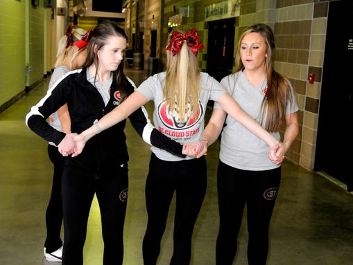 NCHC: SCSU Cheer Team Finds Friendship On The Ice