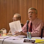 Rehoboth Beach Commissioner Stan Mills speaks at an October meeting.