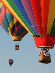 Hot air balloon rides at festival