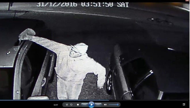 This man was caught lighting a car on fire, subsequently damaging the vehicle and garage nearby Dec. 31, 2016.
