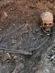 King Richard's skeleton