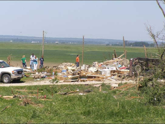 What is left of camp ranger's home near the entrance