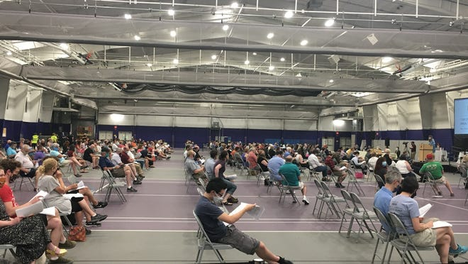 Some 360 voters turned out for Town Meeting on June 22 at Stonehill College.