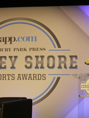 Liam Maxwell of Southern Regional wins the Boys Volleyball Player of the Year Award during the Asbury Park Press Jersey Shore Sports Awards at the MAC on the campus of Monmouth University in West Long Branch, NJ Monday June 13, 2016.