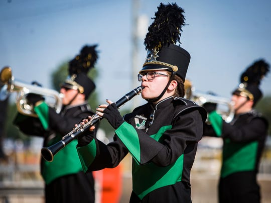 Yorktown High School competes on Band Day at the Indiana