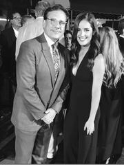 Lauren Kline with co-star Steve Carell.