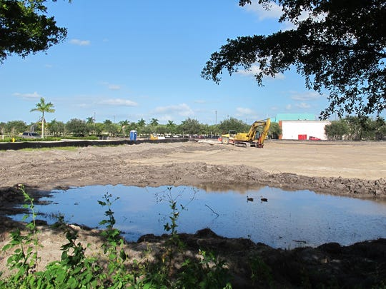 Bonita Springs Infiniti and Volvo of Bonita Springs plan new, larger car dealerships on more than 11 acres recently cleared just west of Hollywood 20 cinema, background, on Naples Boulevard in North Naples.