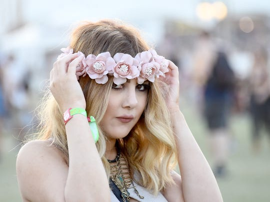 Music fan attends the Coachella Valley Music And Arts Festival at The Empire Polo Club on April 18, 2015 in Indio, California.