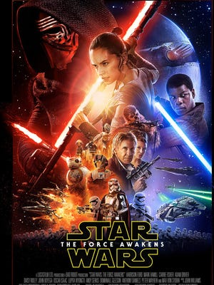 """The poster for the latest """"Star Wars"""" film was released Sunday, Oct. 18."""