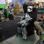 Star Wars fans gather at Pineview Stadium 10 for the release of Star Wars: Episode VII Thursday, Dec. 17, 2015.