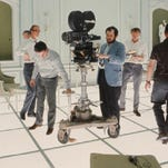 """Stanley Kubrick filming """"2001: A Space Odyssey."""""""