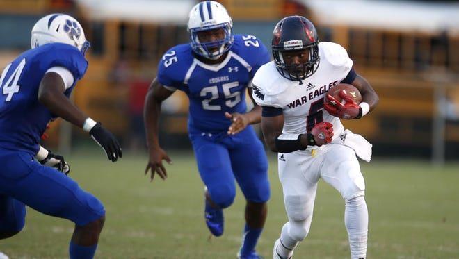 Wakulla running back Cephus Greene and the No. 1 War Eagles (9-1) will face off with Panama City Bay (8-2) during a first-round home playoff game on Friday night.