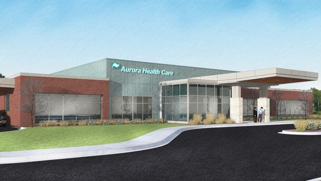 A rendering of the new Aurora Health Care facility on Dewey Street in Manitowoc. Officials broke ground on the facility June 2 and expect it to be open by summer 2018.