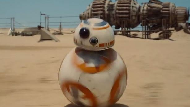 Image from the teaser trailer for Star Wars The Force Awakens