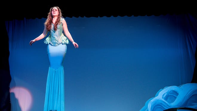 """Ariel is played by Mary Dinkler in the Appleton North High School production of """"Little Mermaid."""""""