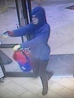 Deputies are searching for this man they say is a suspect in an armed robbery at a Lehigh Acres 7-Eleven.