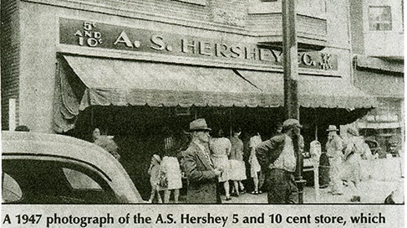 Don Goodling shared this clipping of the A.S. Hershey Co. 5-and-10 in York. Goodling said his mother worked there in the 1950s.