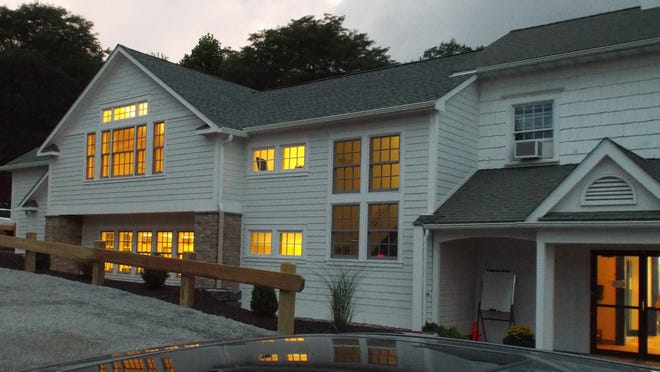 The exterior of the new science wing at Dutchess Day School in Millbrook.
