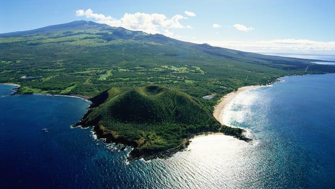 Aerial view of Maui Coast, Hawaii