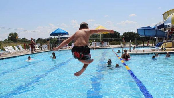 Take a plunge into Splashville's pool when it opens on Monday, June 15.