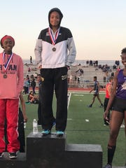 Rider's A'zhariah Veasy won the 400 at Thursday's 5/6-4A Area Meet.