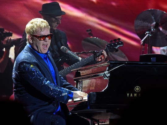 Elton John and his band preform at The Bon Secours
