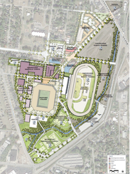 A rendering shows the location of a mix-use development