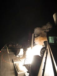 In this image provided by the U.S. Navy, the USS Ross