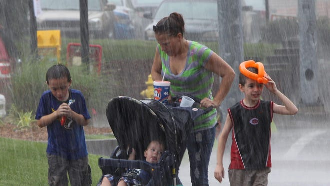 June in the Cincinnati region saw 7.3 inches of rain, compared with the 30-year-averge of 3.3 inches, according to the National Weather Service. July so far has had 1.6 inches of rain, above the average of 1 inch at this point.