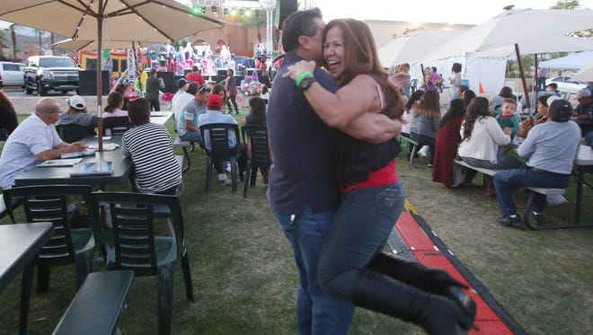 """Cathedral City host a """"Jalisco"""" festivities at its Civic Center. Jalisco is a state in Mexico that shares culture with the city of Cathedral City. In this photo a couple dances."""