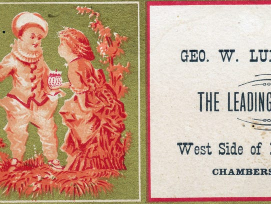A trade card from George Ludwig Jewelry Company, circa