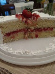 Lemon Layer Cake with Strawberry Filling