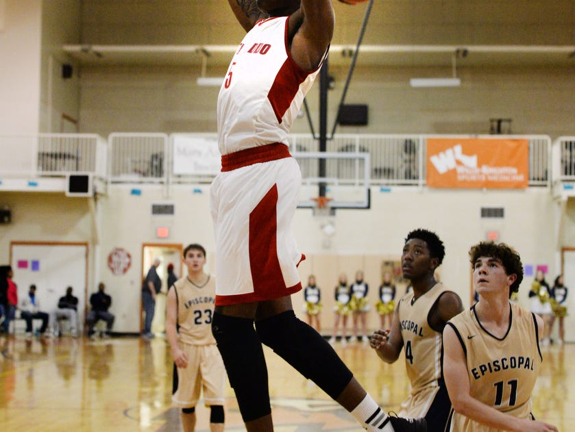 North Caddo's Robert Williams goes up for a dunk in his team's 2A quarterfinal win over Episcopal last month.