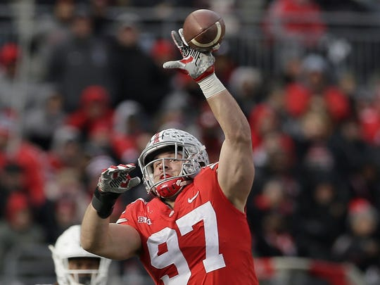 1. Ohio State (12-2): At this point, Ohio State doesn't rebuild. It simply reloads. The Buckeyes should have a fierce defensive line, led by Nick Bosa, and another top-notch secondary full of former top recruits. The offense will be led by Dwayne Haskins, who led Ohio State to a road win over Michigan while filling in for injured former starter J.T. Barrett. Haskins doesn't have a lot of credentials, but that one certainly stands out.