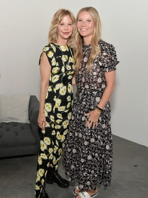 Meg Ryan and Gwyneth Paltrow attend the In goop Health Summit on June 9 in Los Angeles.
